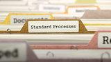 Standard Processes Concept on File Label.