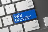 Blue Web Delivery Keypad on Keyboard.