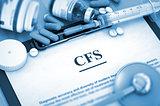 CFS. Medical Concept.