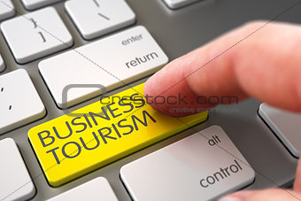Business Tourism - Computer Keyboard Concept.