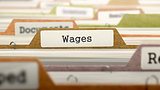 Wages Concept on Folder Register.