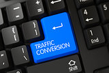 Blue Traffic Conversion Key on Keyboard.