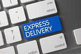 Keyboard with Blue Button - Express Delivery.