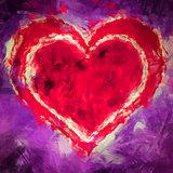 Illustration heart in heart