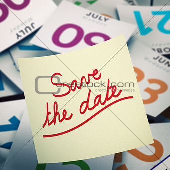 Save the Date, Special Event Communication Concept