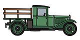 Vintage flat truck