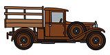 Vintage brown truck