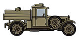Vintage military tank truck