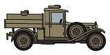 Vintage military tank truck