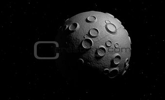 small planet in space 3d render