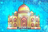 Mosque Ramadan Kareem background
