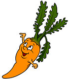 Smiling Cartoon Carrot