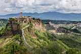 Exciting view to Civita di Bagnoregio, Italy.