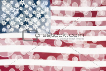 American Flag Bokeh Lights