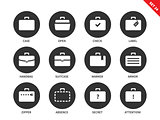 Suitcases icons on white background