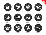 Checkout icons on white background