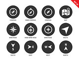 Navigation equipment icons on white background