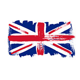 Flag of Great Britain on a white background.