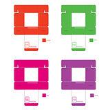 Color Box Pattern Set1