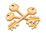Three golden keys.