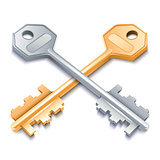 Two metal keys.