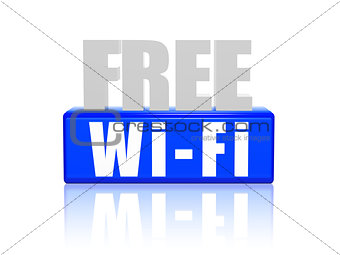 free wi-fi in 3d letters and block