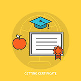 Getting certificate concept