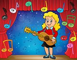 Girl guitar player on stage theme 2