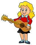 Girl guitar player theme image 1