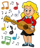 Girl guitar player theme image 2