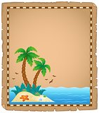 Parchment with tropical island theme 1