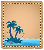 Parchment with tropical island theme 2