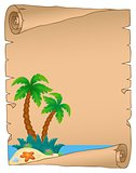 Parchment with tropical island theme 3