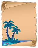 Parchment with tropical island theme 4