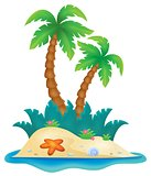 Tropical island theme image 1