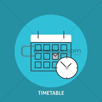 Timetable vector illustration