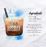 White  Russian cocktails watercolor