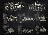 Cocktail menu chalk
