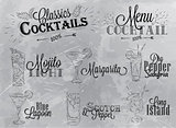 Cocktail menu gray