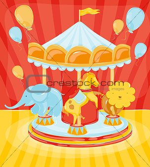 Circus carousel animals