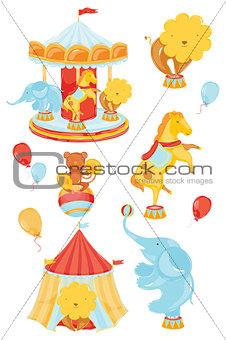 Circus elements color elements