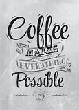 Poster coffee makes possible coal