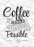 Poster coffee makes possible paper