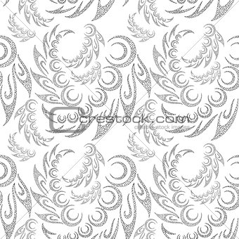 Abstract Contour Seamless Background