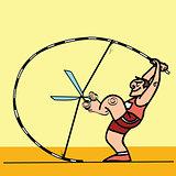 Doping sport cunning pole vaulter