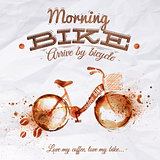 Poster coffee spot bike