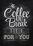 Poster coffee break chalk