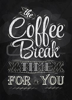 Poster coffee break chalk