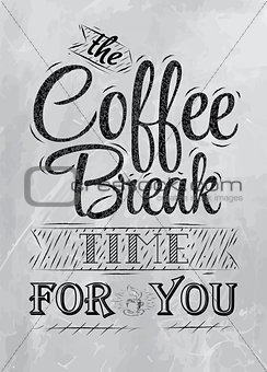 Poster coffee break  coal