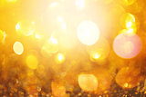 Golden Defocused Lights Background